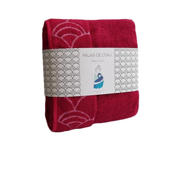 baby towel - rosu - 1